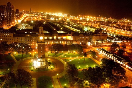 City of Buenos Aires at night.