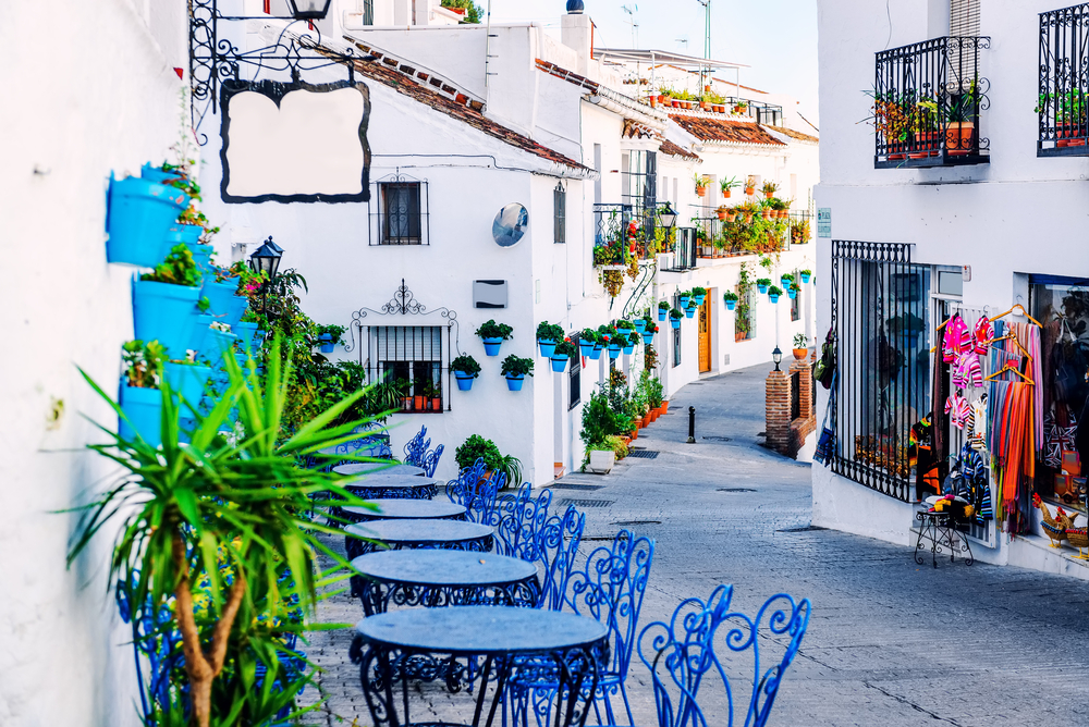 Classical cafe in white villages of Andalucia