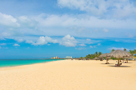 ARUBA Beautiful beach in Aruba, Caribbean Islands, Lesser Antilles