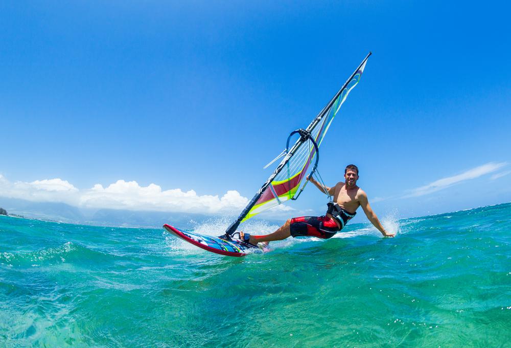 Windsurfing in Puerto del Carmen.