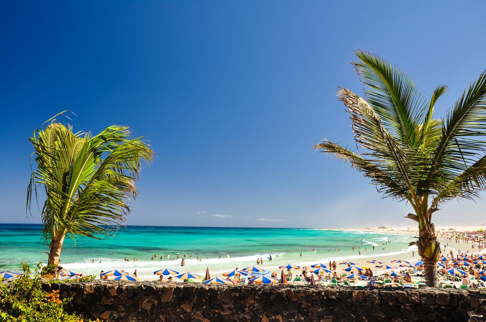 A windy day at Correlejo Beach
