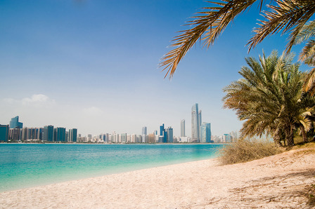 Dubai city and beach