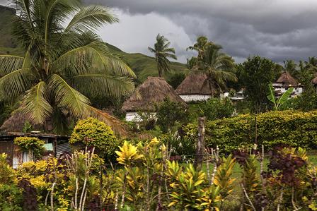 FIJI-Traditional Fijian vilage - Navala, Viti Levu, Fiji