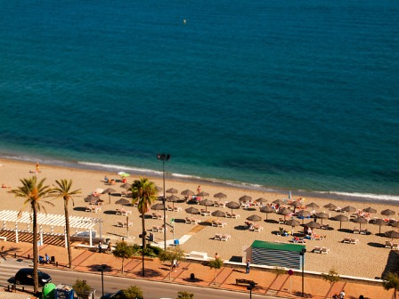 Spend a day at one of the many golden beaches in Fuengirola, Spain