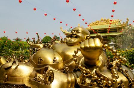 Ho Chi Minh city lucky Buddha