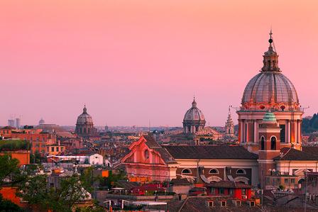 Rome skyline Italy