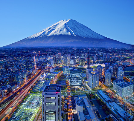 Mt.Fuji and Yokohama Japan