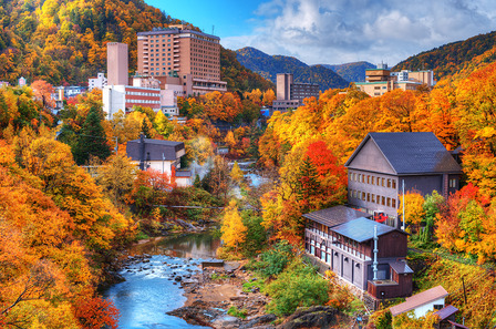 JAPAN The Hot Springs resort town of Jozankei in the northern island of Hokkaido, Japan.