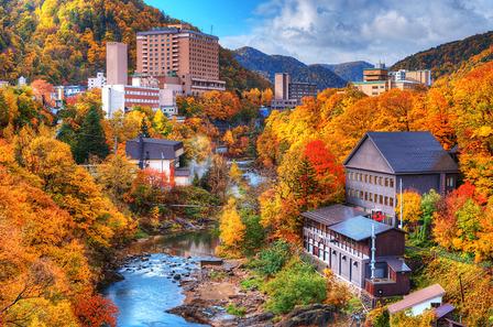 JAPAN The Hot Springs resort town of Jozankei in the northern island of Hokkaido, Japan.