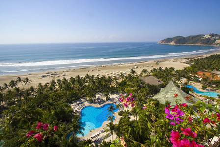Mexican coastal resort on beach