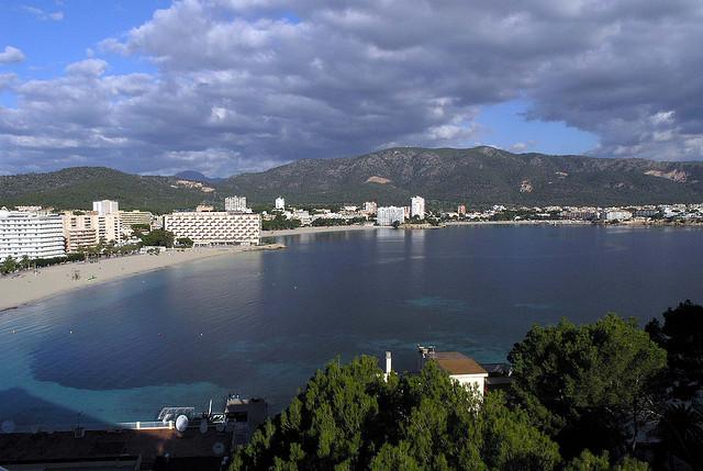Aerial view of Palma Nova