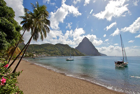 ST LUCIA Caribbean island St Lucia landscape