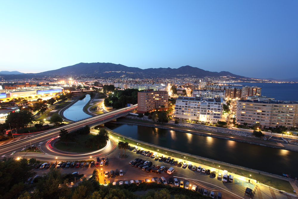 View over the town Fuengirola. Costa del Sol, Andalusia Spain