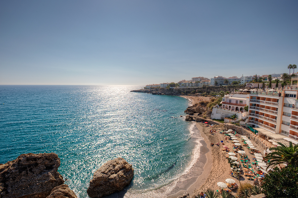 Playa de la Caletilla, Nerja (M¡laga, Spain)