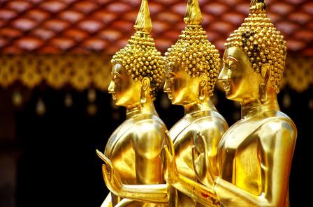 Chang Mai Thailand Buddha statues
