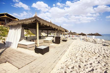 beach huts Port El Kantaoui Tunisia